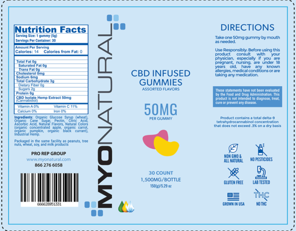 myonatural cbd gummy 50mg -