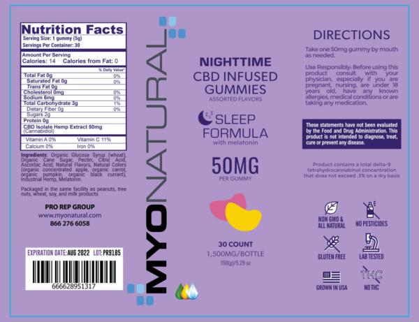 cbd sleep gummy label - CBD Sleep Gummies